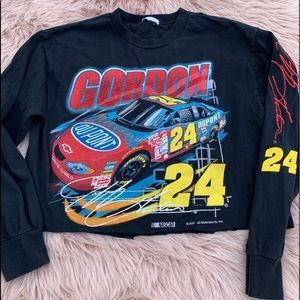 NASCAR Jeff Gordon crop T-shirt LS 2001